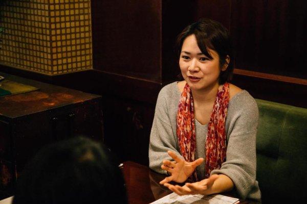 『Washi+Performing Arts? Project』について語る浜田さん