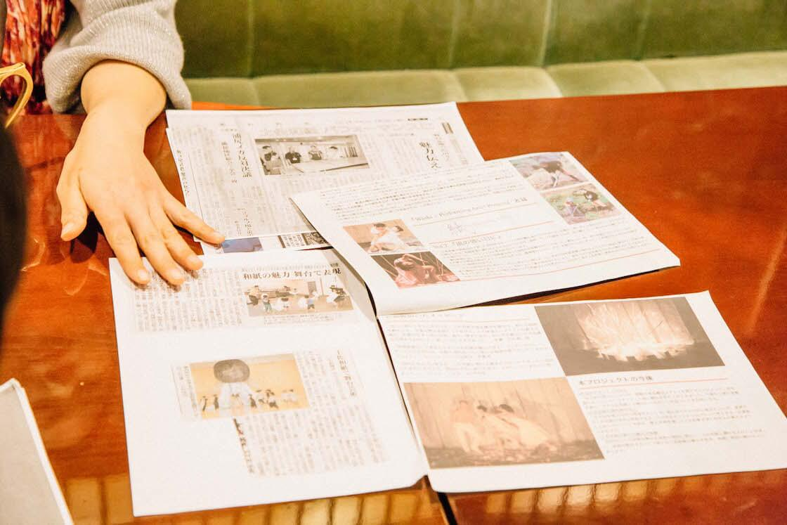 地元の新聞などでプロジェクトを取材された記事は、大事に保管してある