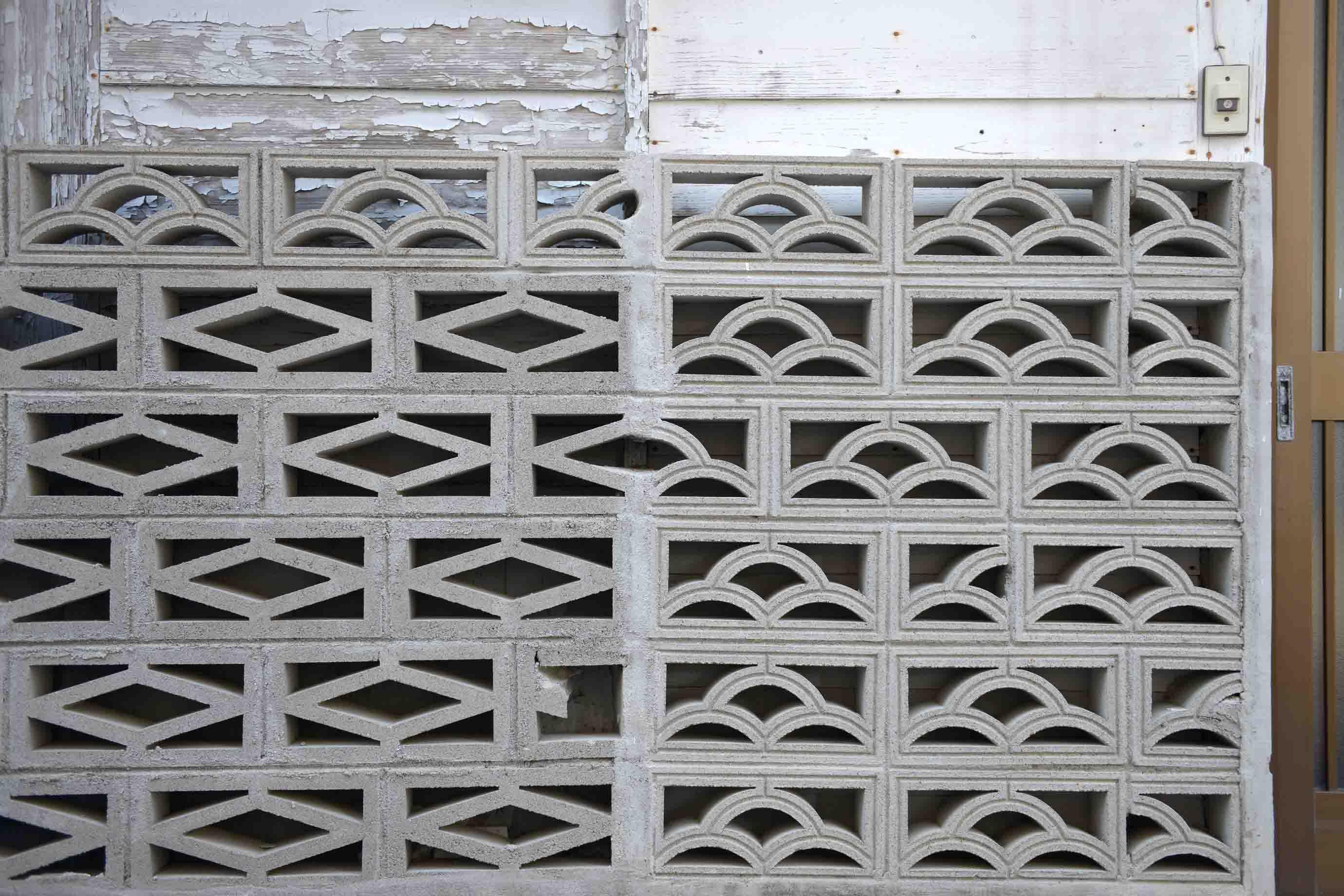 ブロック塀として使われる