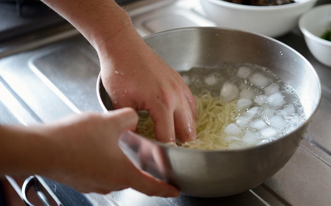 冷やし中華の調理工程