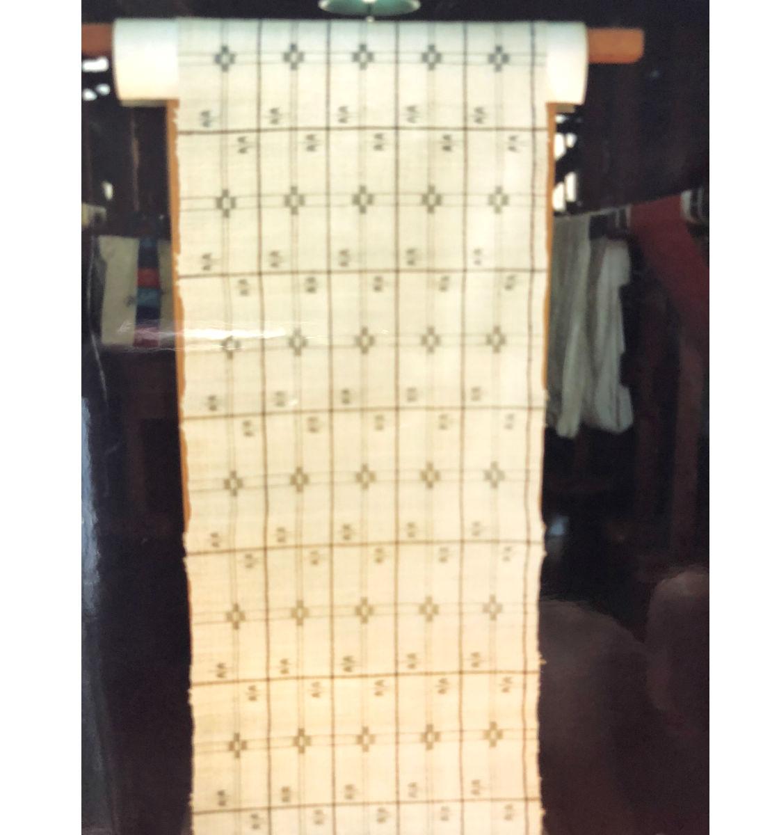 初子さんが復元した桐板 (提供:ルバース吟子さん)