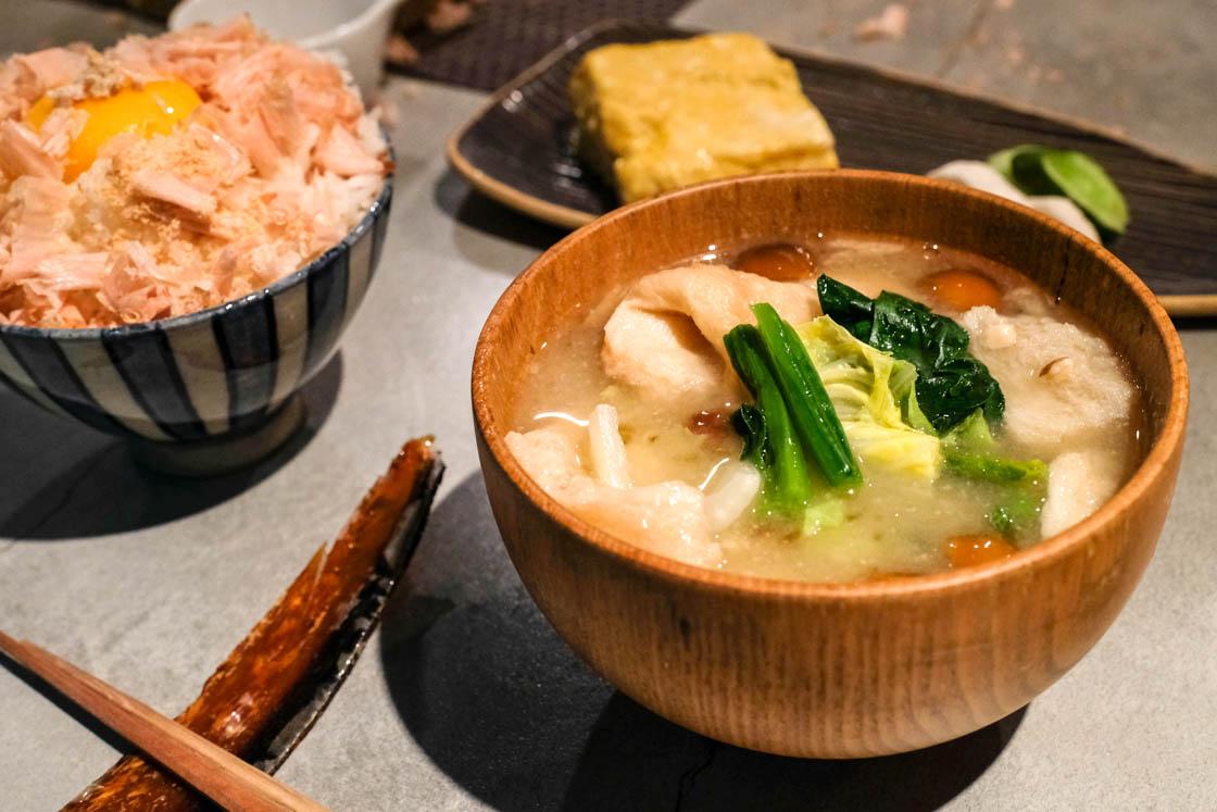 渋谷かつお食堂 のお味噌汁