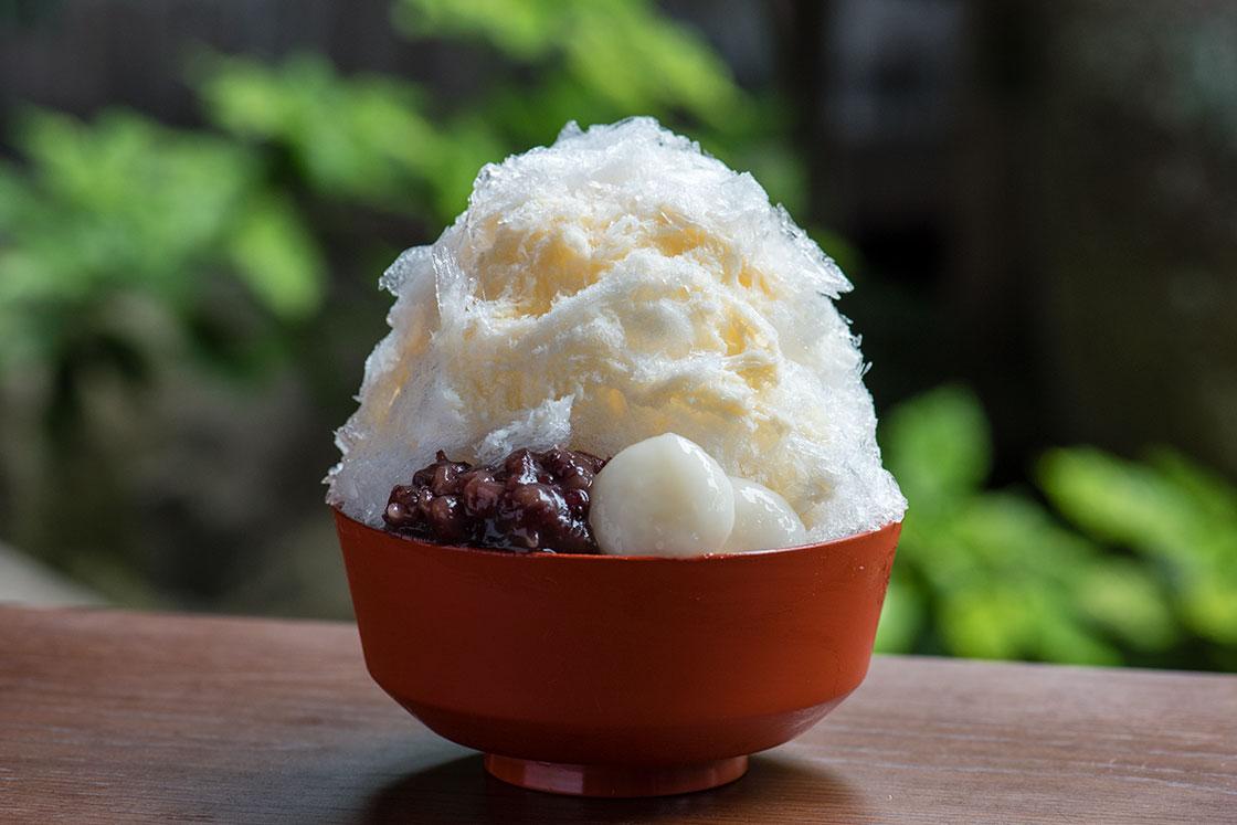 茶論 奈良町店の「白いかき氷」