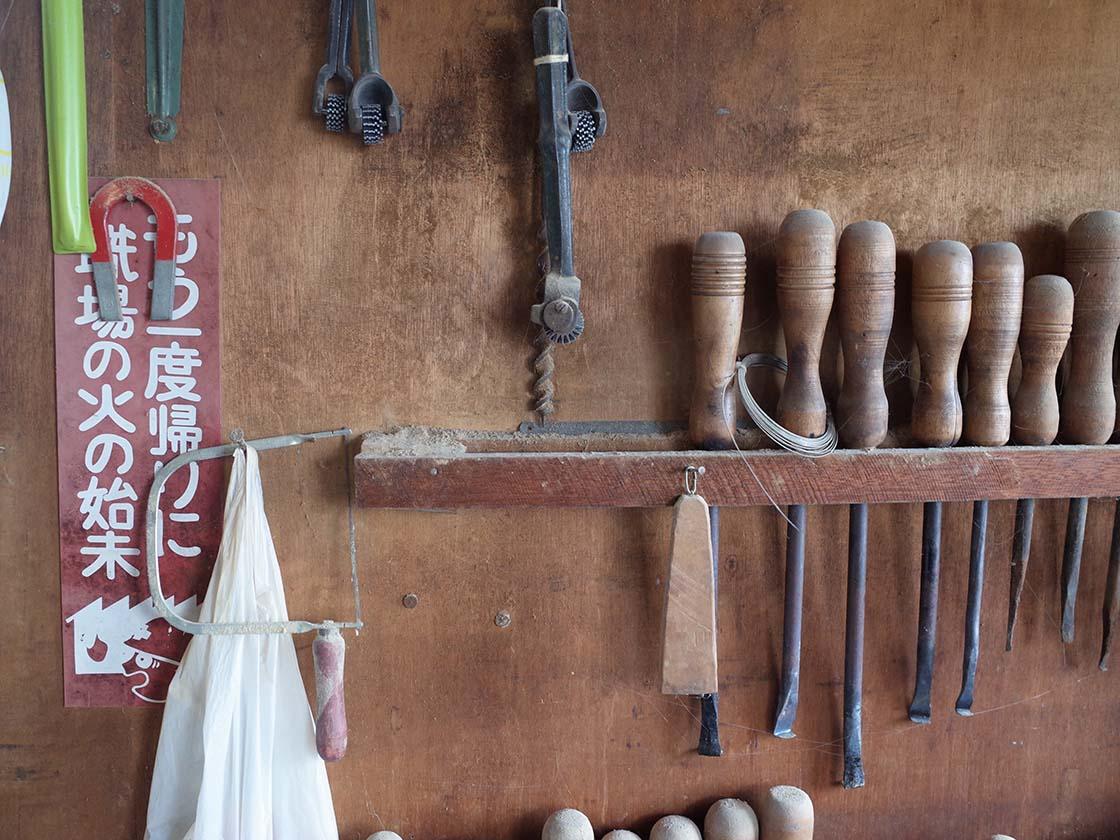 鎌田こけしやの道具