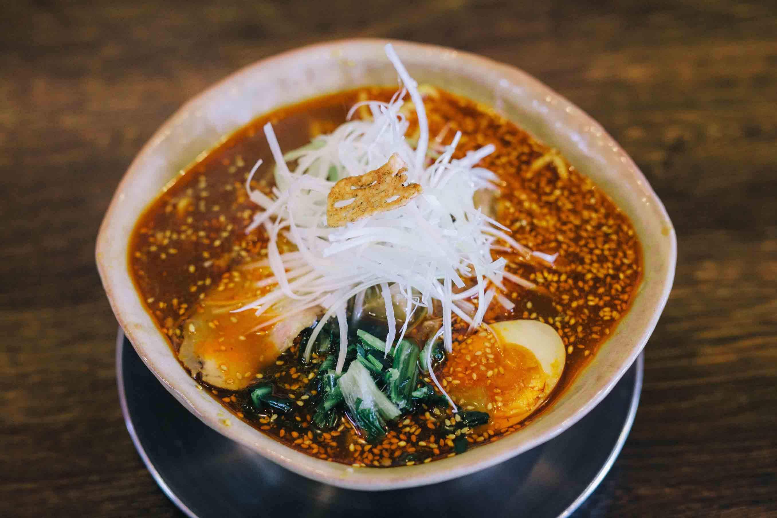 十日町の食材で作った火焔タンタン麺