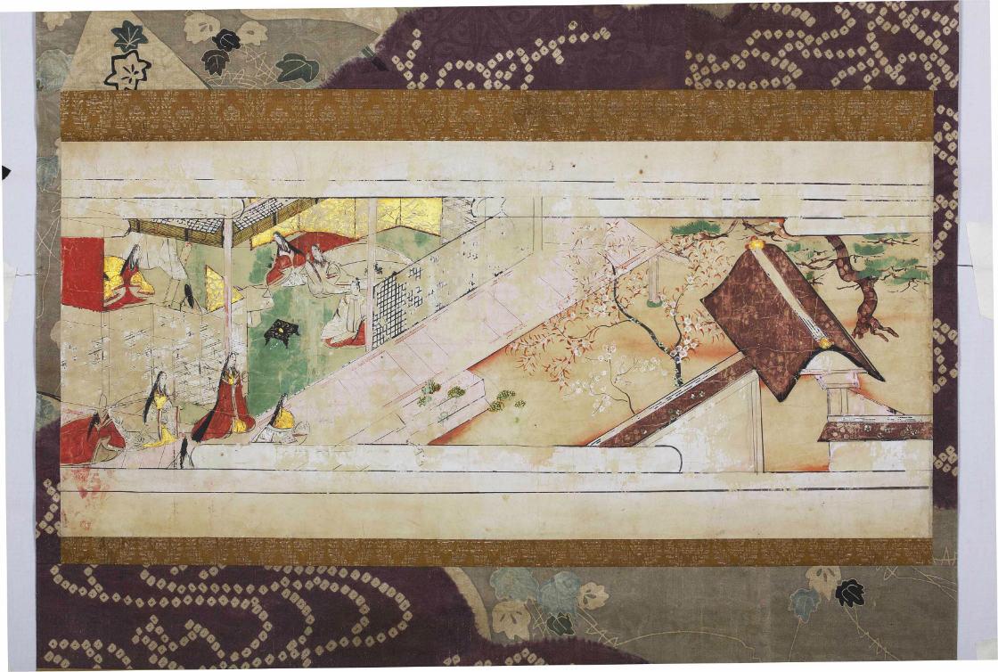 十二段草子絵巻断簡 1幅 紙本着色 室町~江戸時代