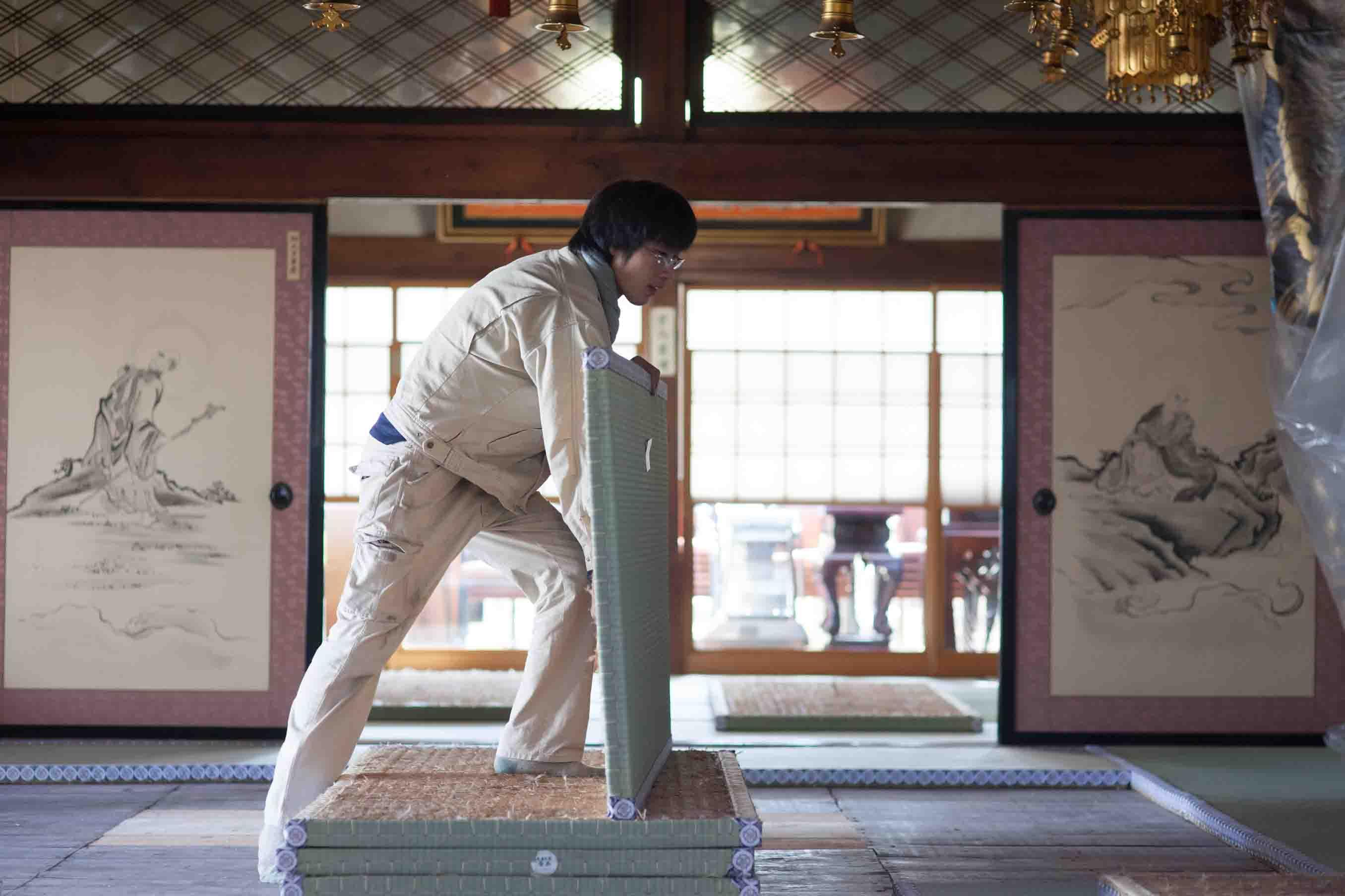 多くの日本家屋での施工を行ってきたそう