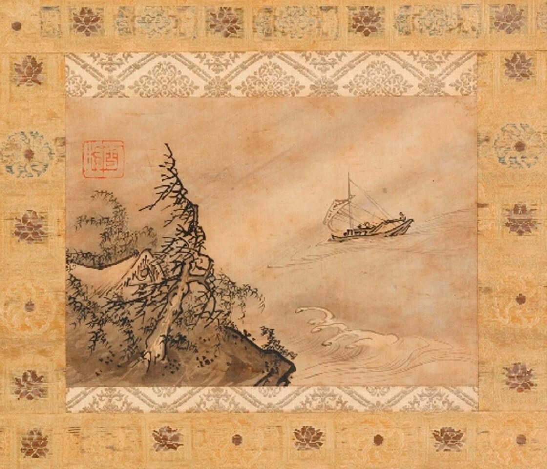 野村美術館の所蔵品の風濤図