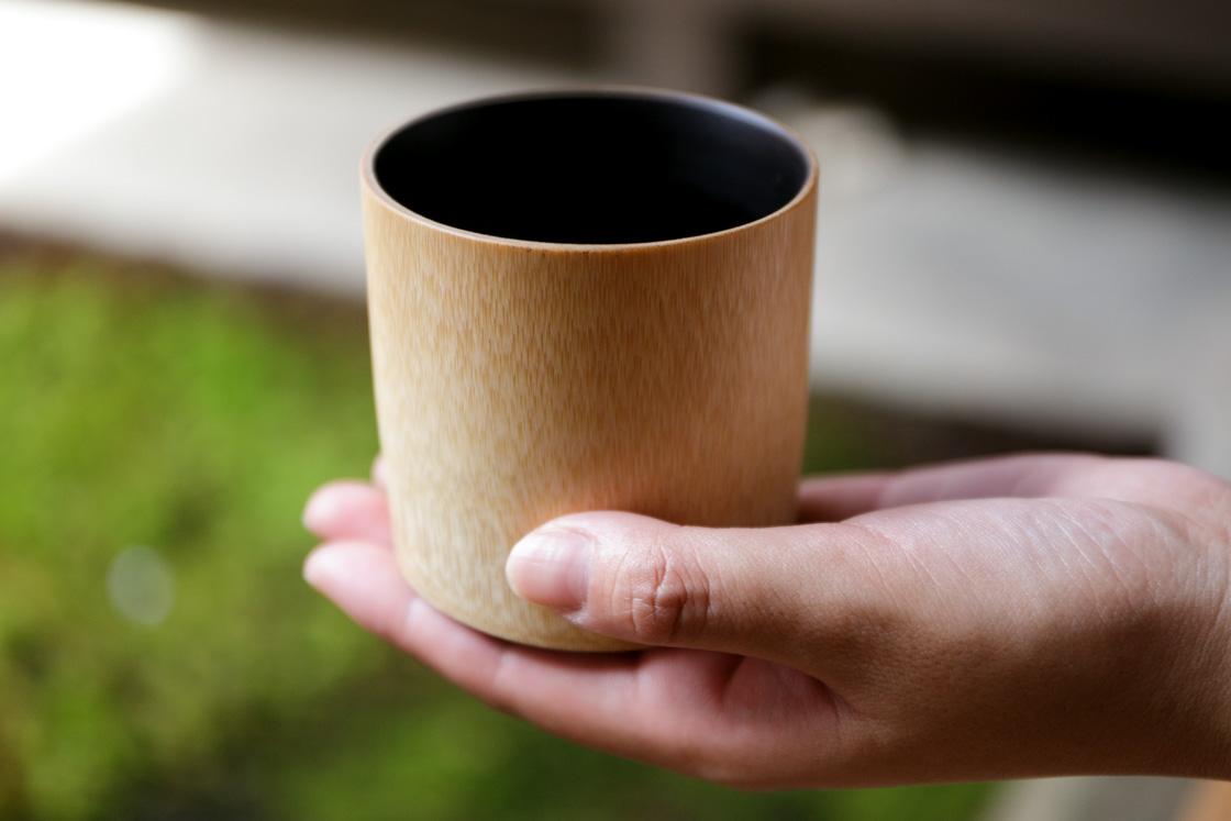 竹と木のお店「ばんてら」の竹製コップ