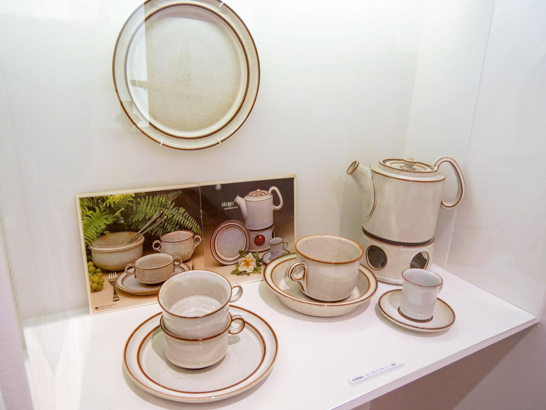 1970年代のデンマーク陶器メーカー「ストーゴ社」の食器。これらは松岡製陶所でつくられていた