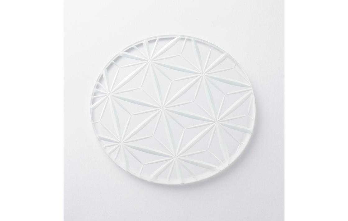 東京・堀口硝子「江戸切子の丸板皿」