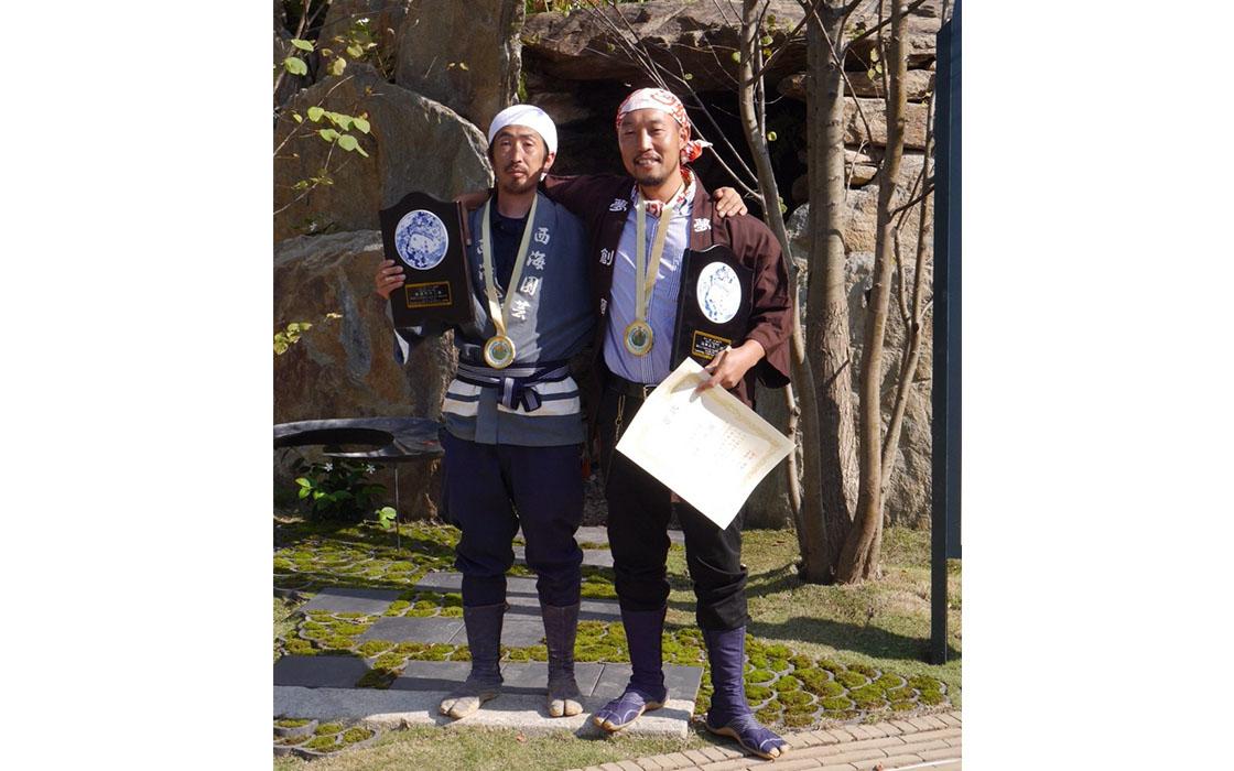 大会で猪鼻さんを全面的にサポートしたのは、以前、さんちで紹介した長崎・波佐見町の庭師・山口陽介さんです