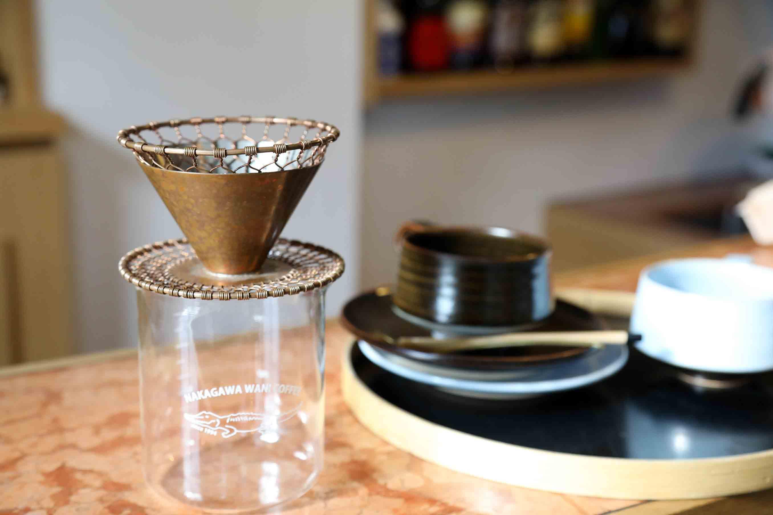京金網で作ったコーヒードリッパー
