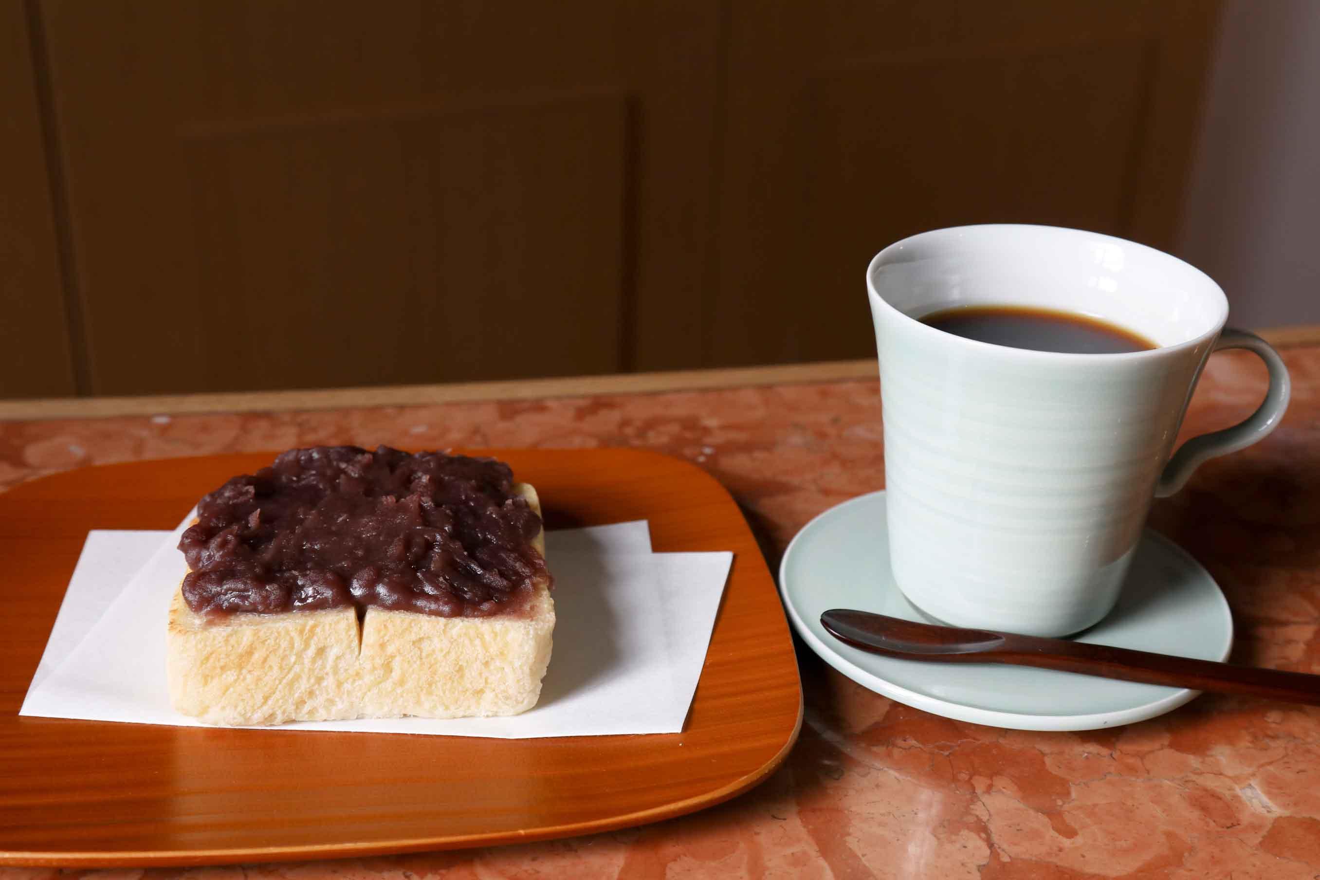 コーヒーとあんバタ