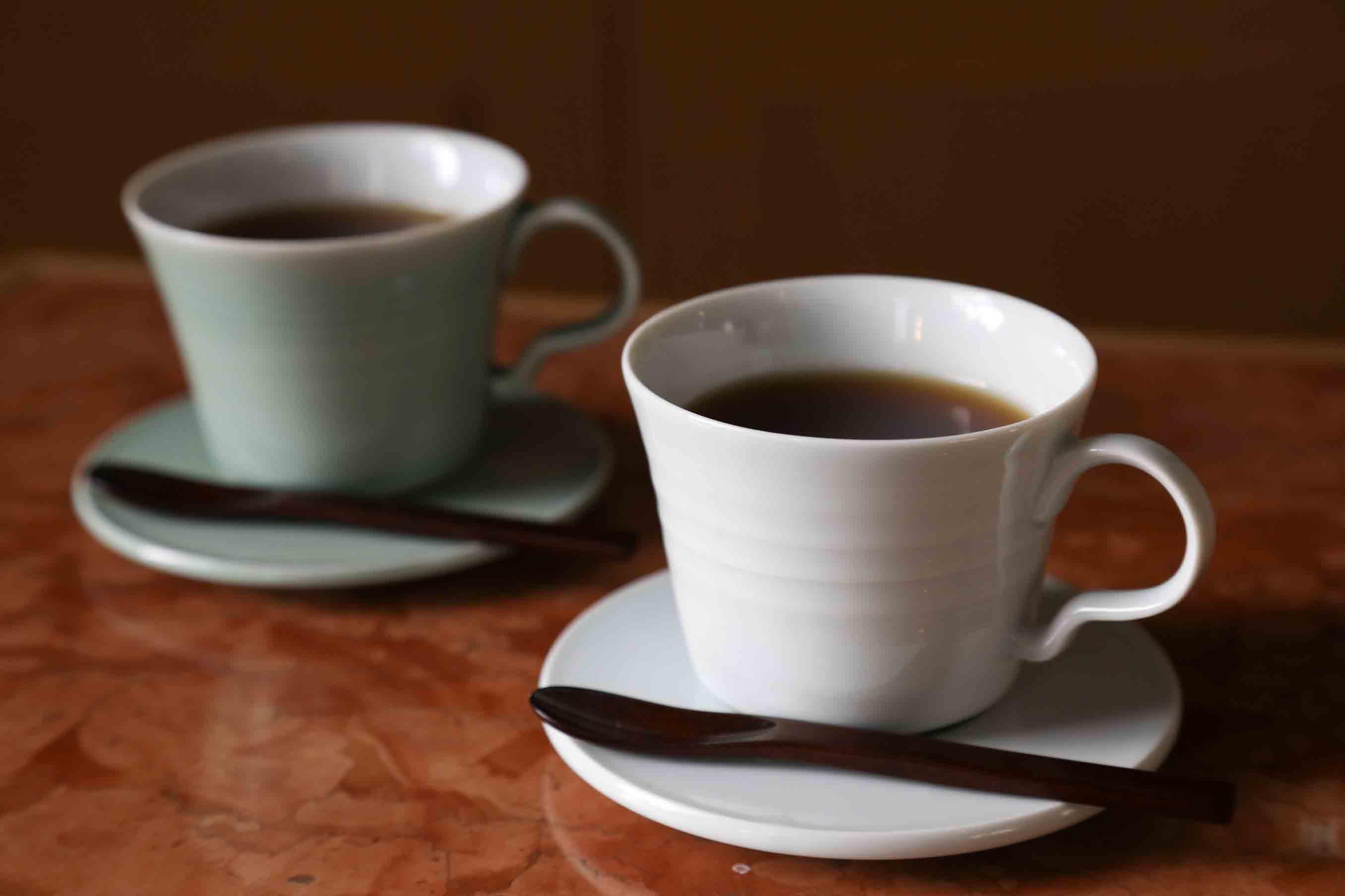 朝日焼のコーヒーカップ