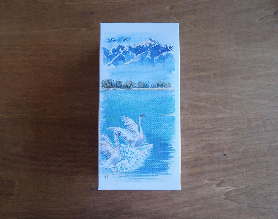 長野県松本市 開運堂のお菓子、白鳥の湖