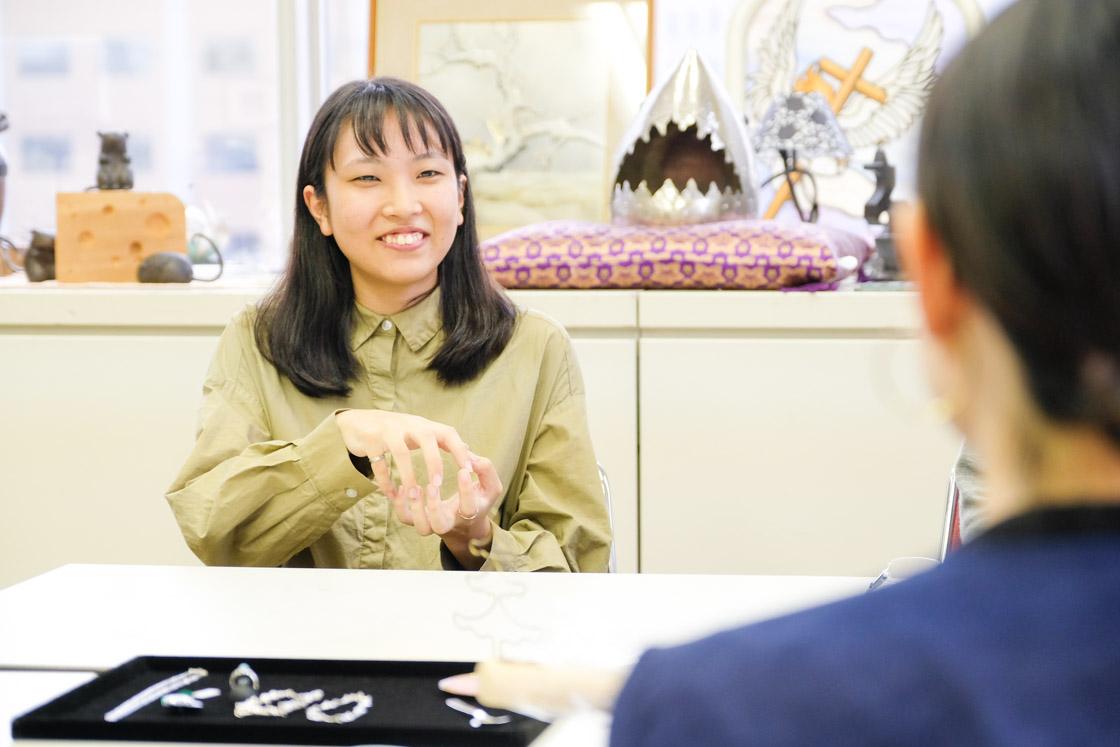 東京工芸高等学校アートクラフト科 矢口鳩望さん(3年)