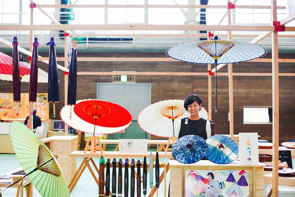 とても素敵な「長良川デパート」の和傘