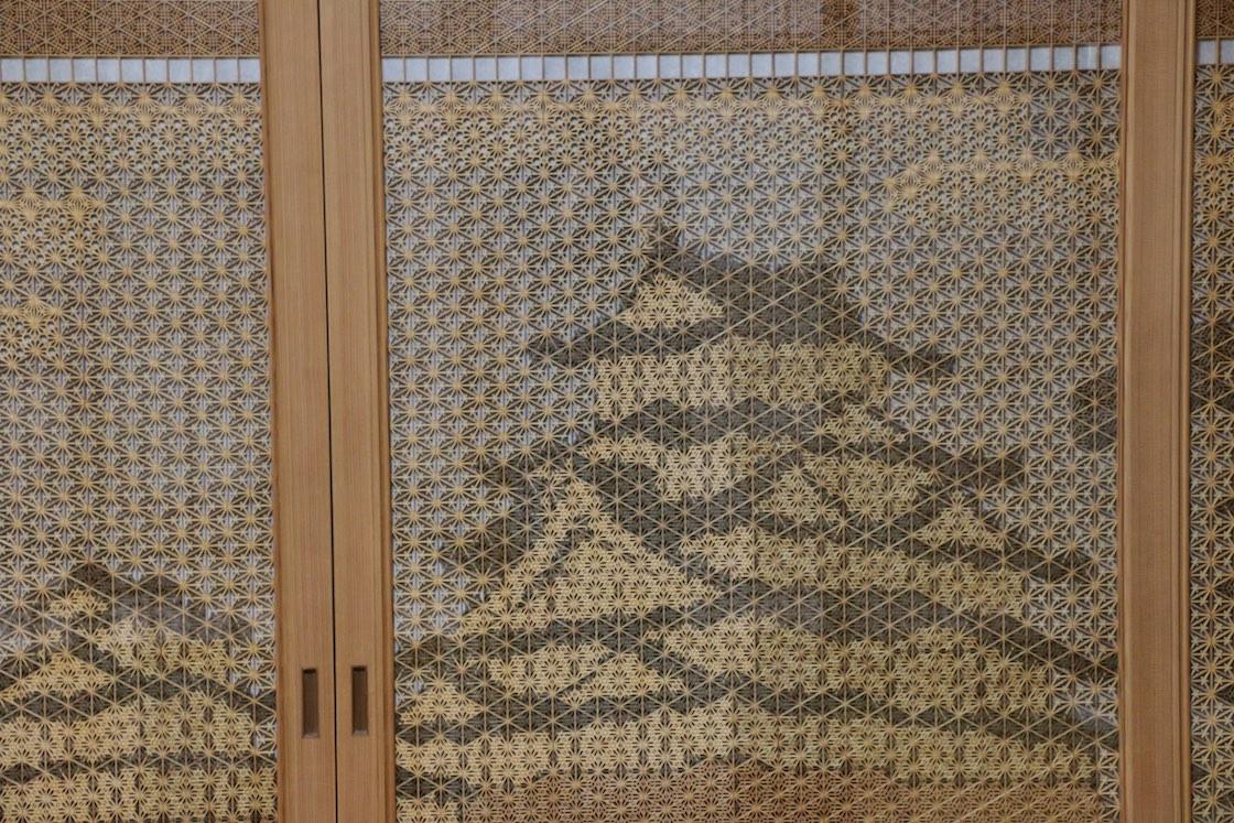 指勘建具工芸の作品「白鷺城」