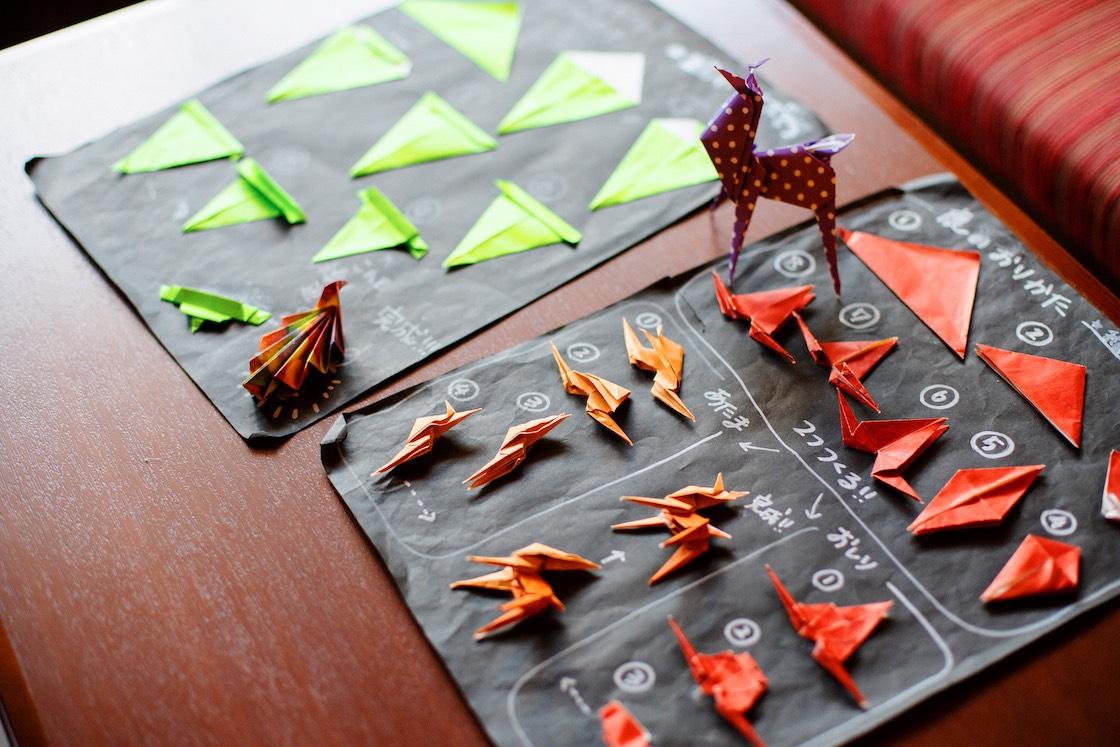 お客様用の折り紙作り方見本