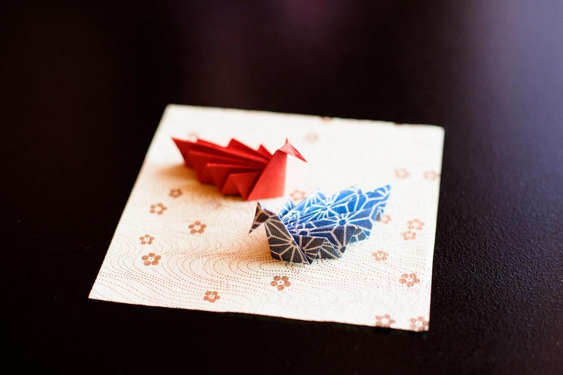 折り鶴の箸置き
