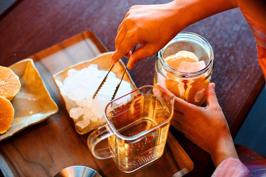 果実酒づくりに挑戦
