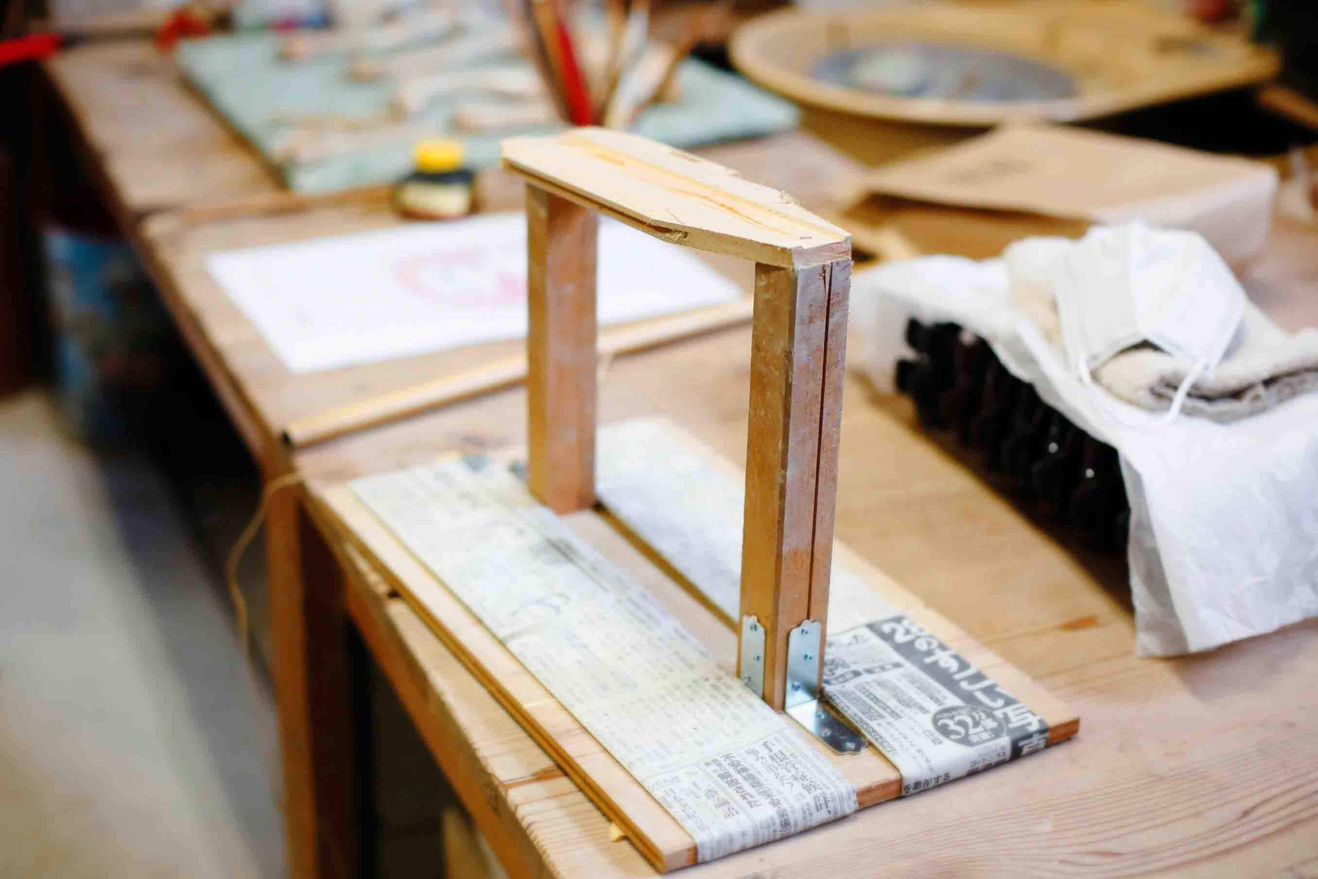 造形の際に使われた台