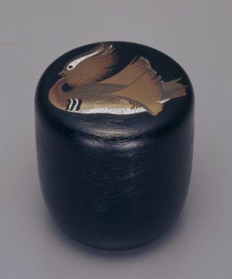 松田権六 《鴛鴦蒔絵棗》 1945年 東京国立近代美術館蔵