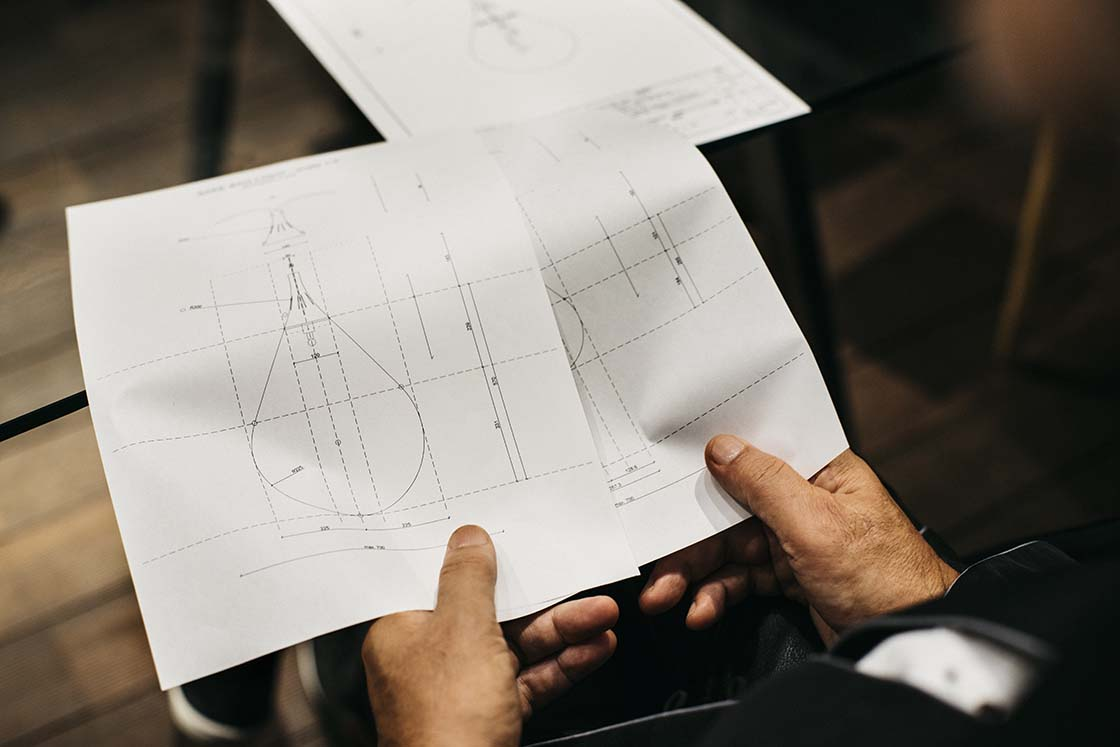 酒吊りライトの設計図