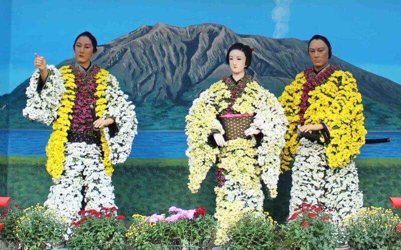 湯島天神菊まつりの菊人形