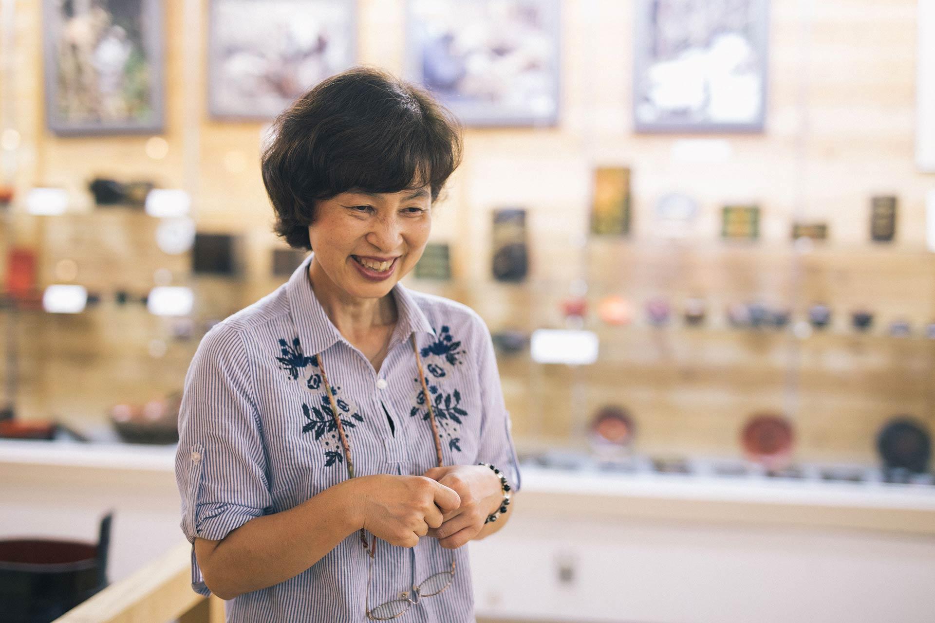 「浄法寺歴史民俗資料館」の資料調査員である中村弥生さん