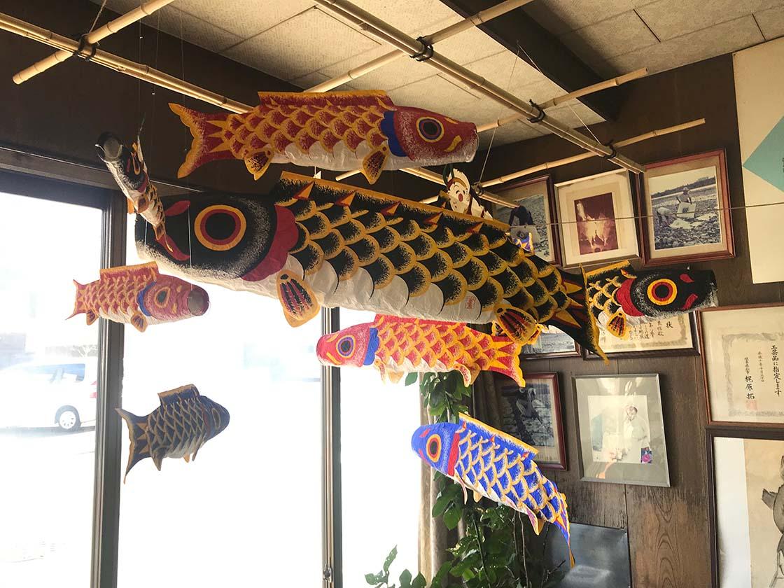 岐阜市東材木町「小原屋商店」の「のぼり鯉」
