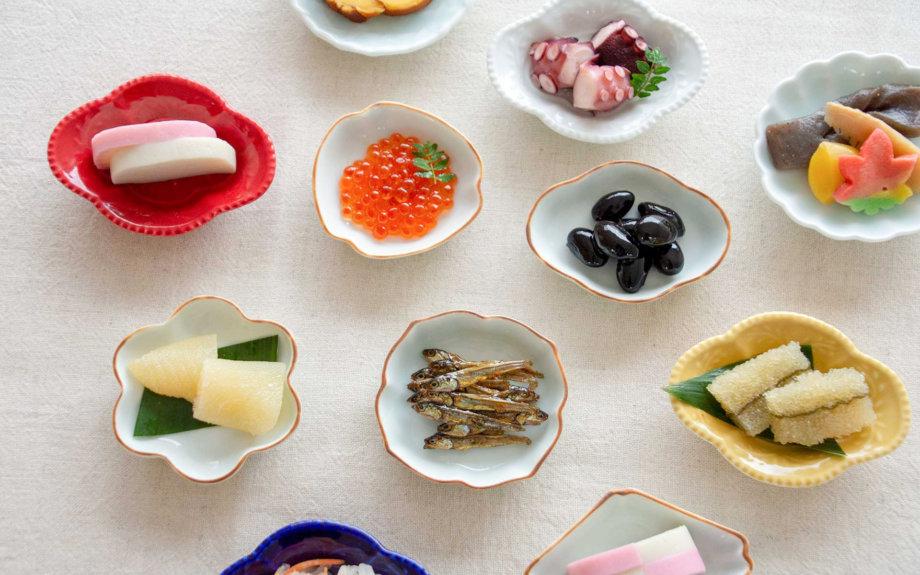 個性豊かな豆皿でおせちを楽しむ