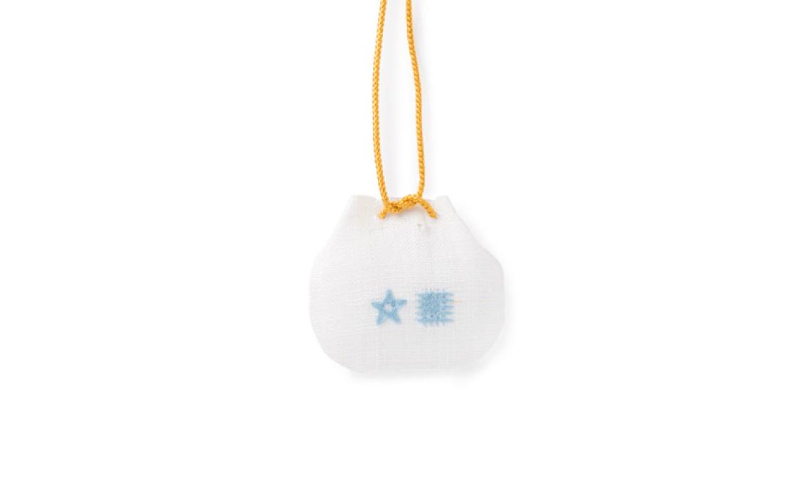 ゑびや真珠のお守り 裏側の刺繍