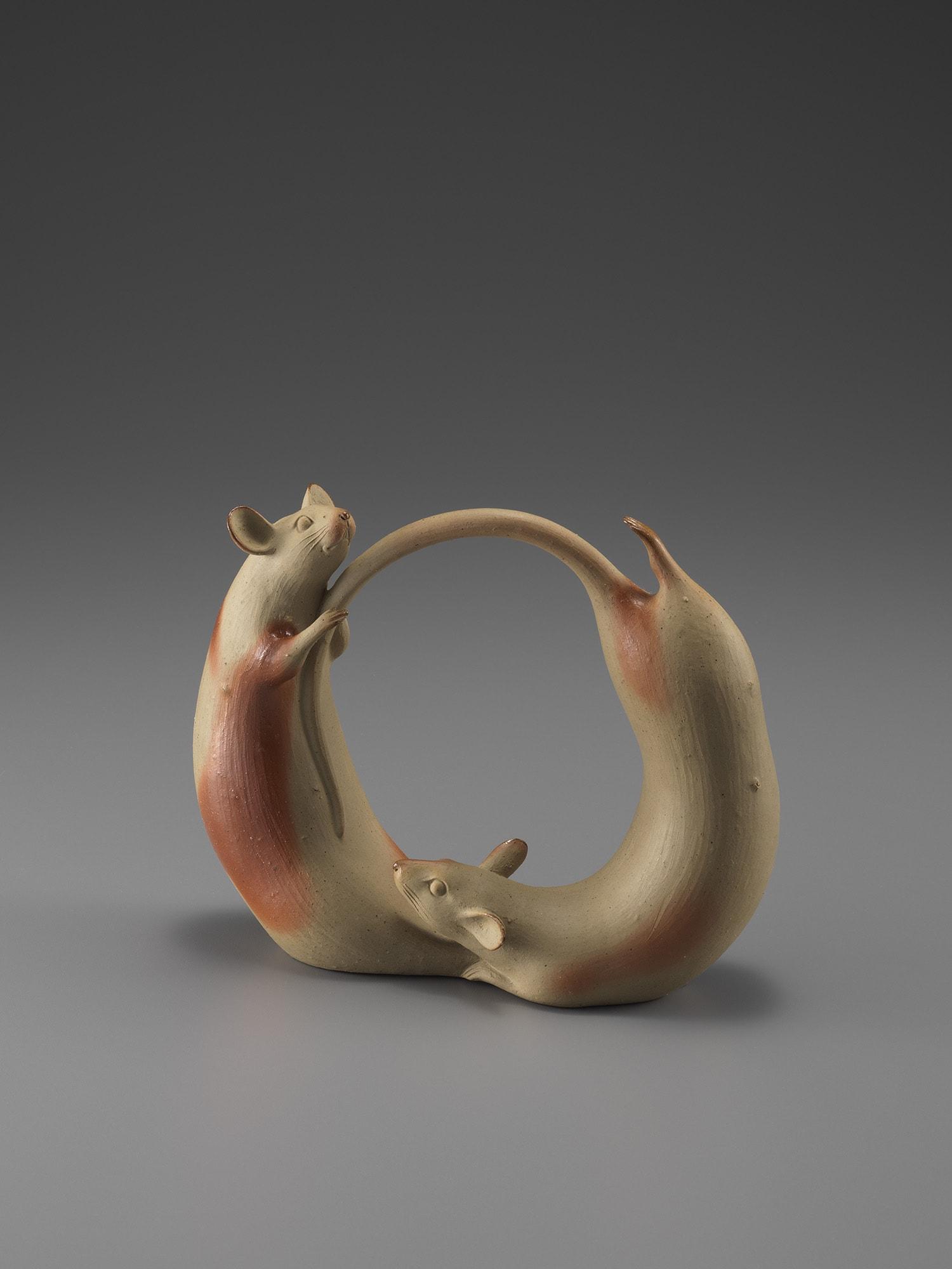 島村光《ネズミノカップル》1983年 個人蔵