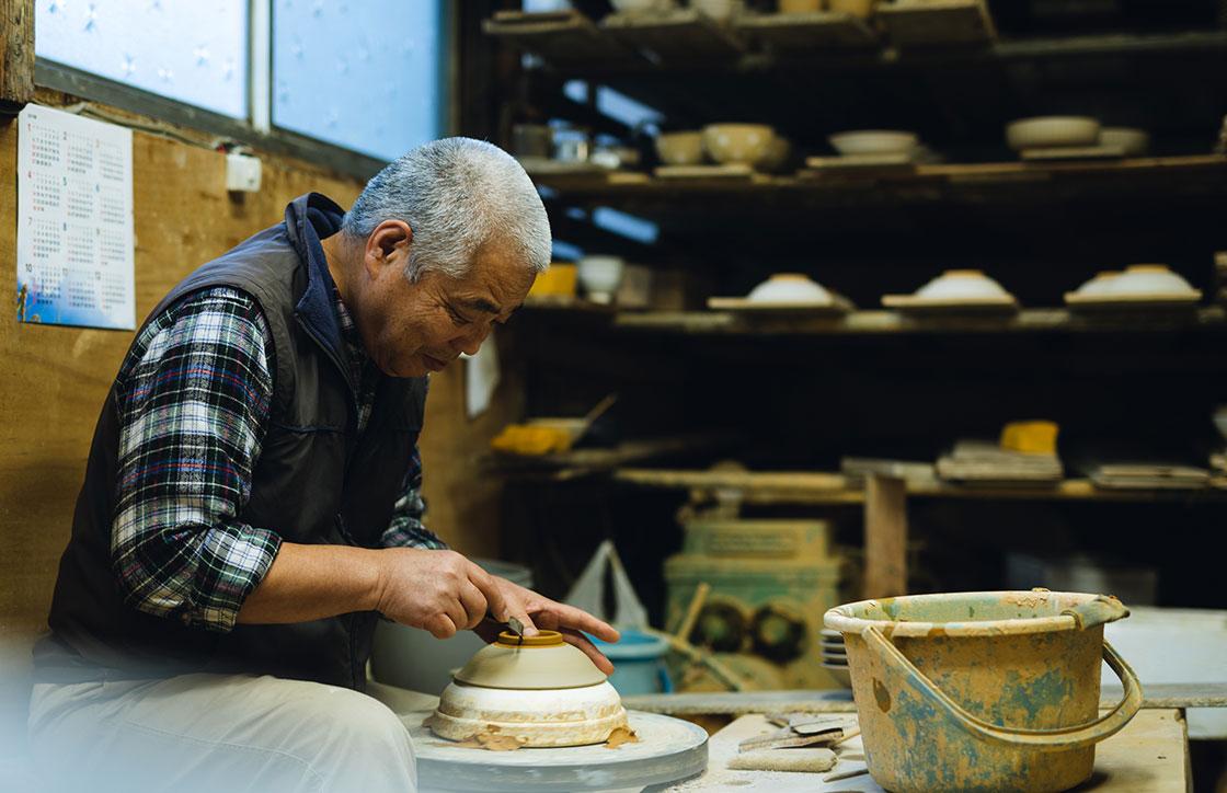 土秀窯(どしゅうがま)代表の和田隆男さん