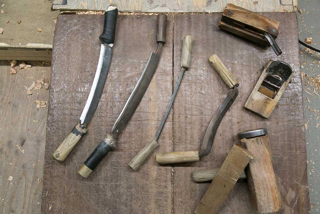 樽職人の道具