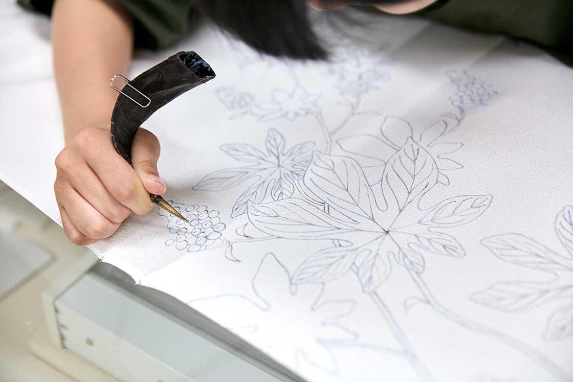 京都伝統工芸大学校の授業の様子