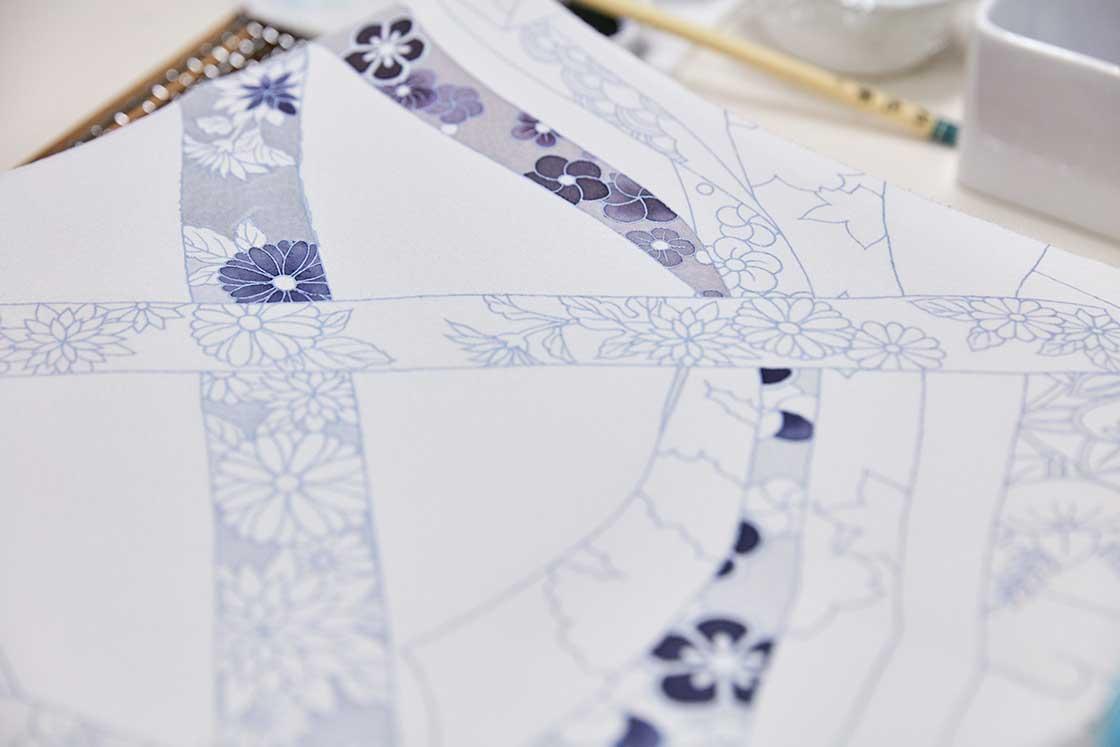 京都伝統工芸大学校で制作中の作品