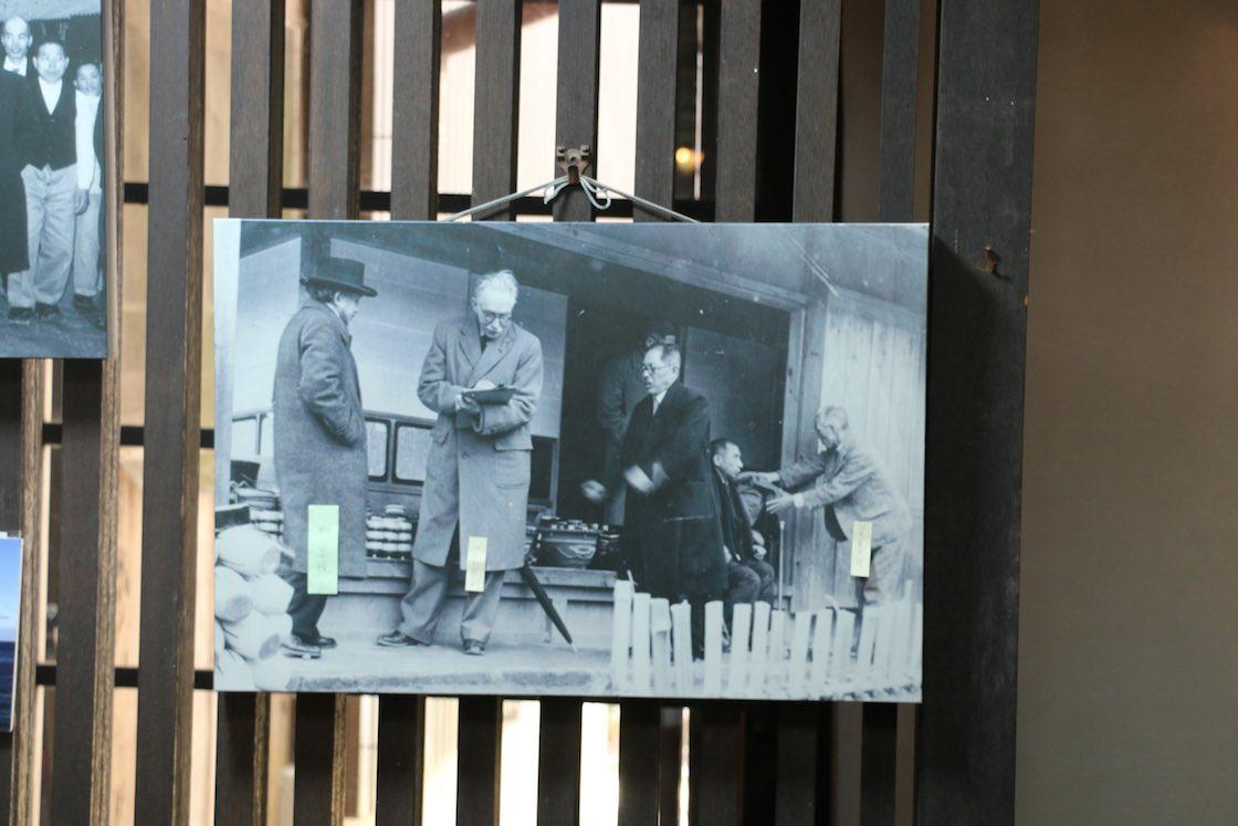 ギャラリーに展示されていた訪問の様子