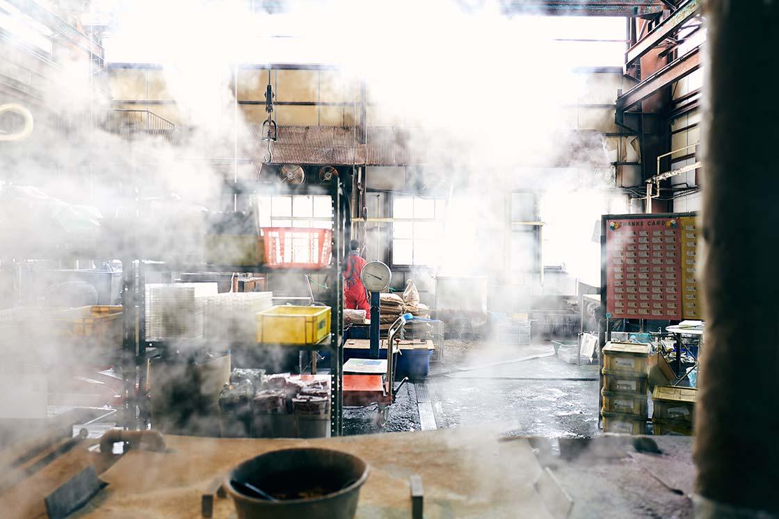 三条市テーエムの工場