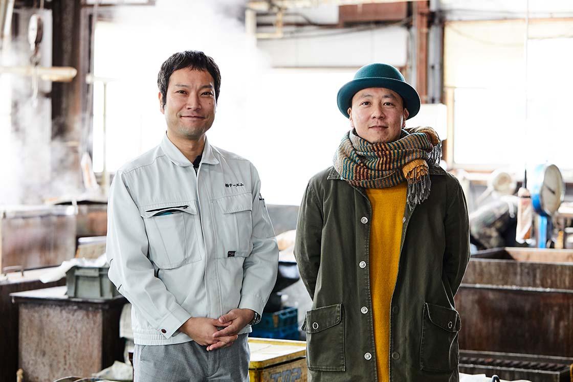 NISHIMURA DESIGNの西村さんとテーエムの渡辺さん