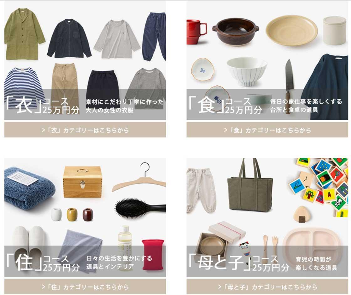 各カテゴリ、それぞれ25万円分の品物が当たる