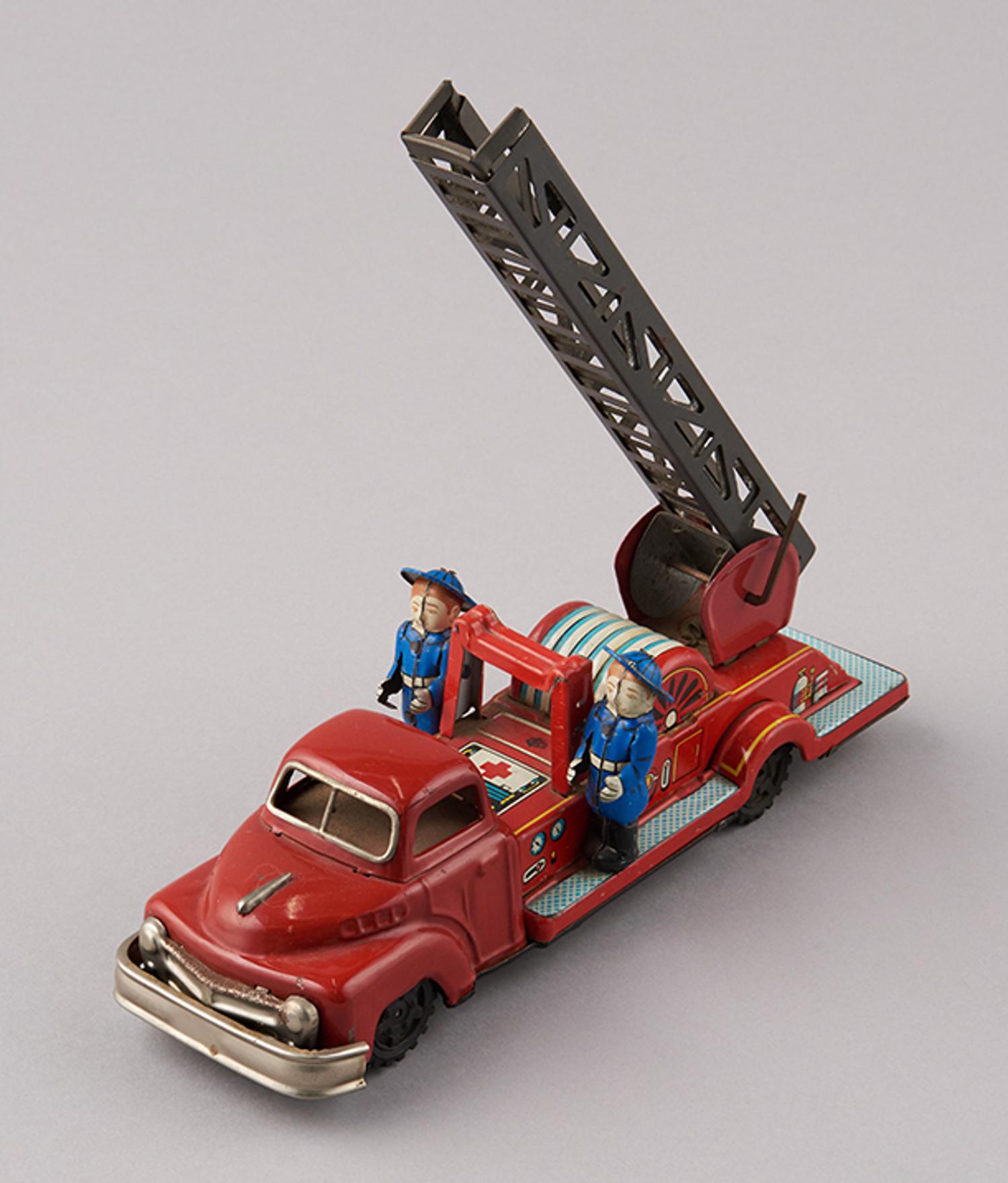 レトロなハシゴ車のおもちゃ