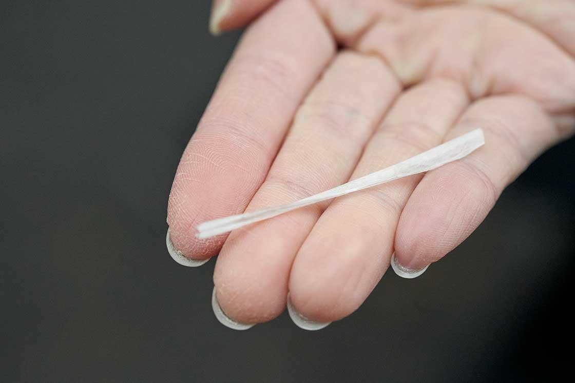 紙糸は字のごとく、本当に紙でできています