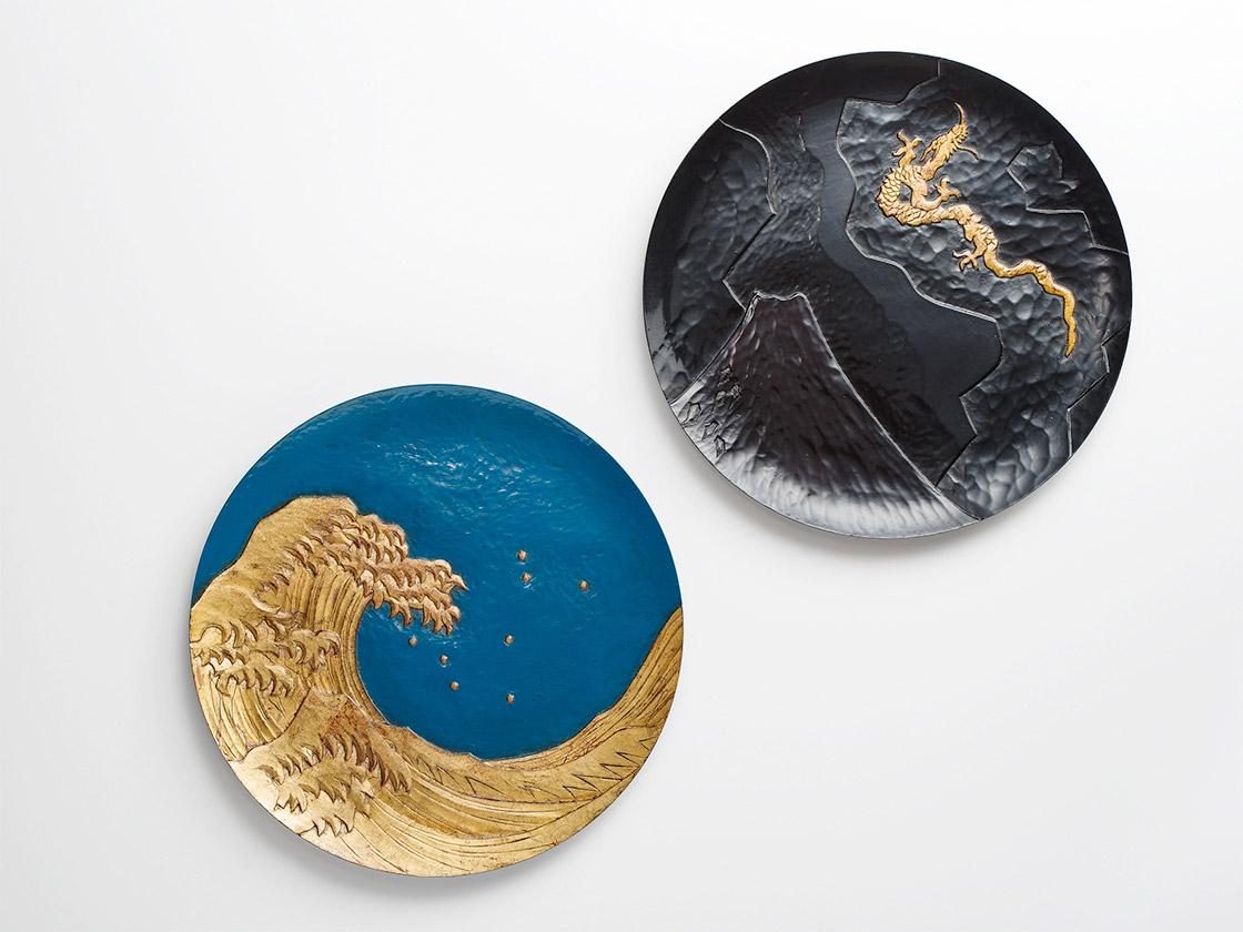 2018年個展『うみやそらとも』より、葛飾北斎の絵をモチーフにした作品(c)今村裕司(むら写真事務所)