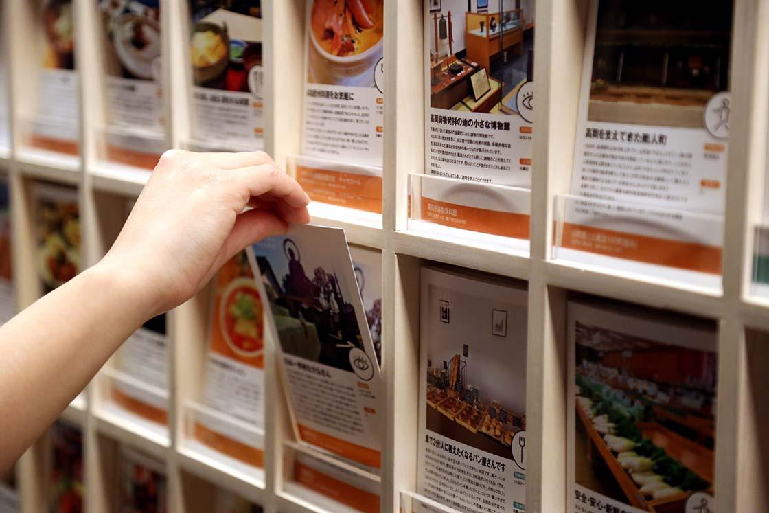 ▲カードなので一目瞭然。千春さんをはじめ、産業観光部のみなさんが実際に取材して制作してます
