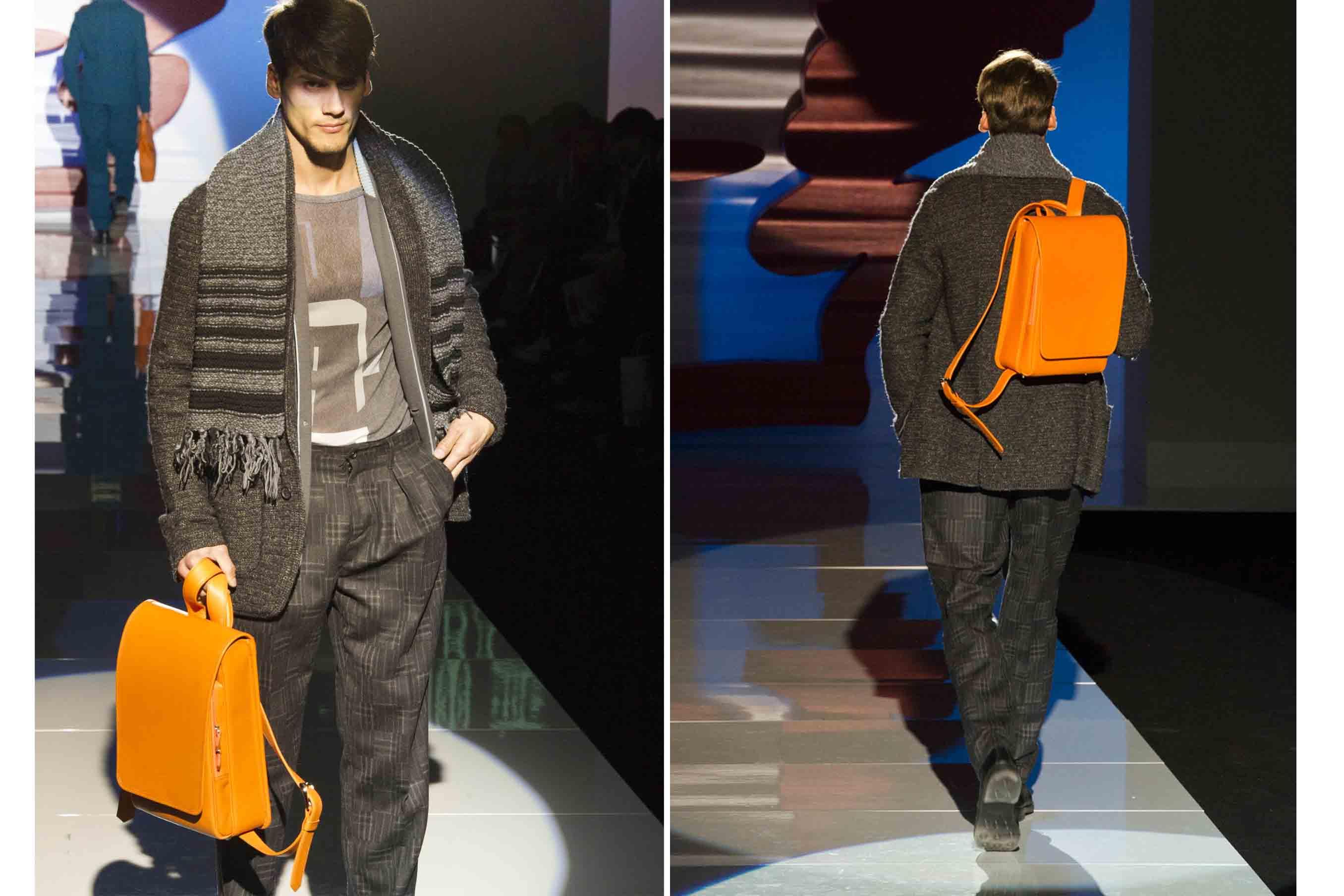 ファッションショーで披露された大人のランドセル「リューク」