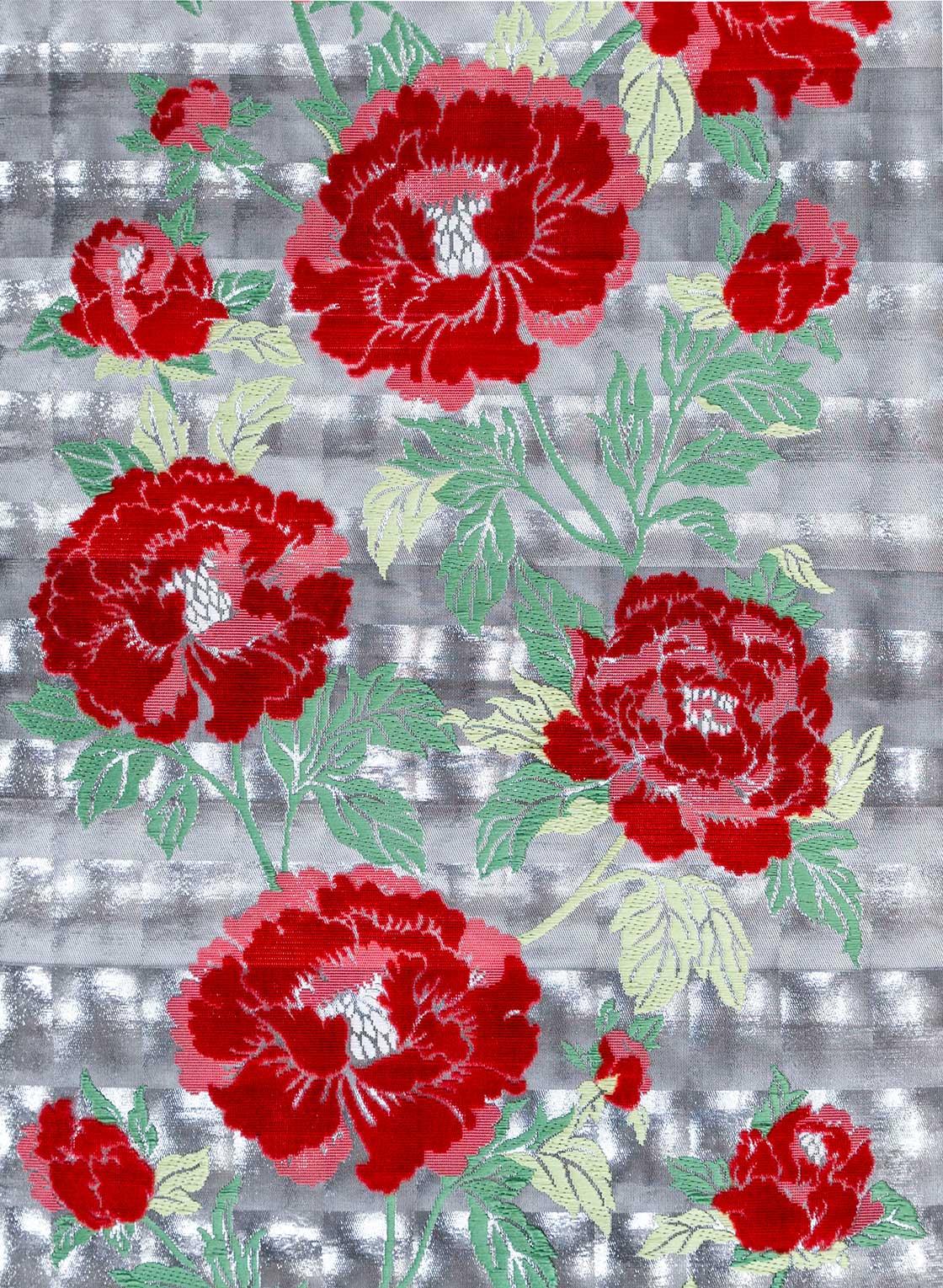 引箔とビロード織技術を組み合わせておられた織物