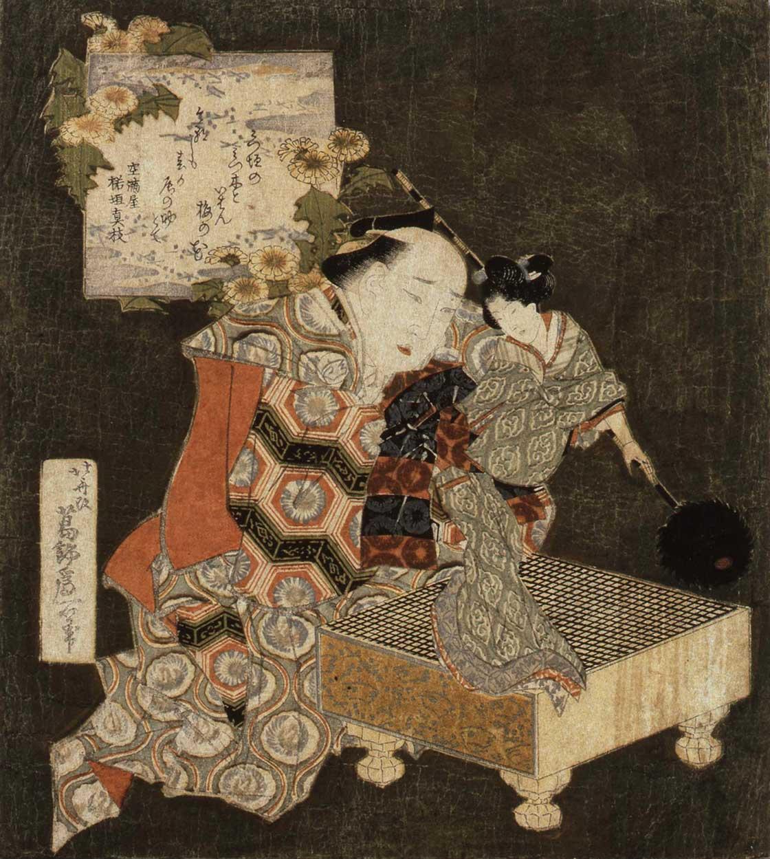 葛飾北斎「碁盤人形」(後期)